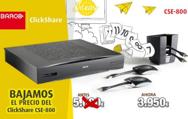 Bajamos el precio del ClickShare CSE-800